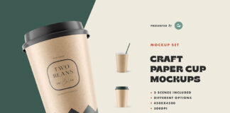 Free Ponderous Coffee Cup Mockup PSD Template
