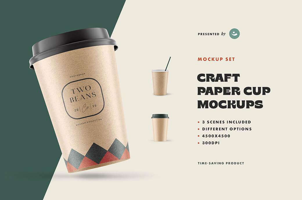 Free Ponderous Coffee Cup Mockup PSD Template