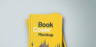 Free Precious Hardcover Book Mockup PSD Template