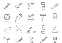 Free Professional 20+ Hair Salon Vector Icons