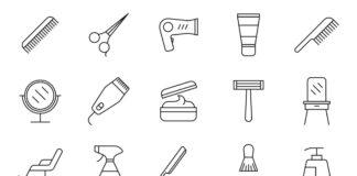 Free Professional 20+ Hair Salon Vector Icons