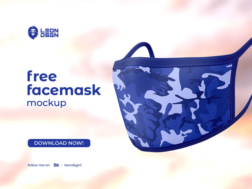 Free Protective Face Mask Mockup PSD Template