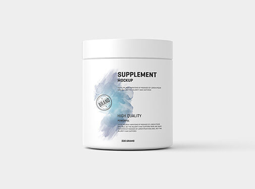 Free Protein Pack And Jar Mockup PSD Template2