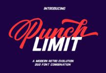 Free Punch Limit Font Combination