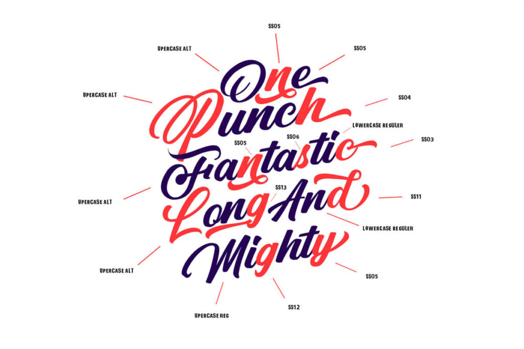Free Punch Limit Font Combination3