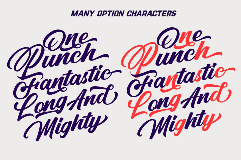 Free Punch Limit Font Combination5