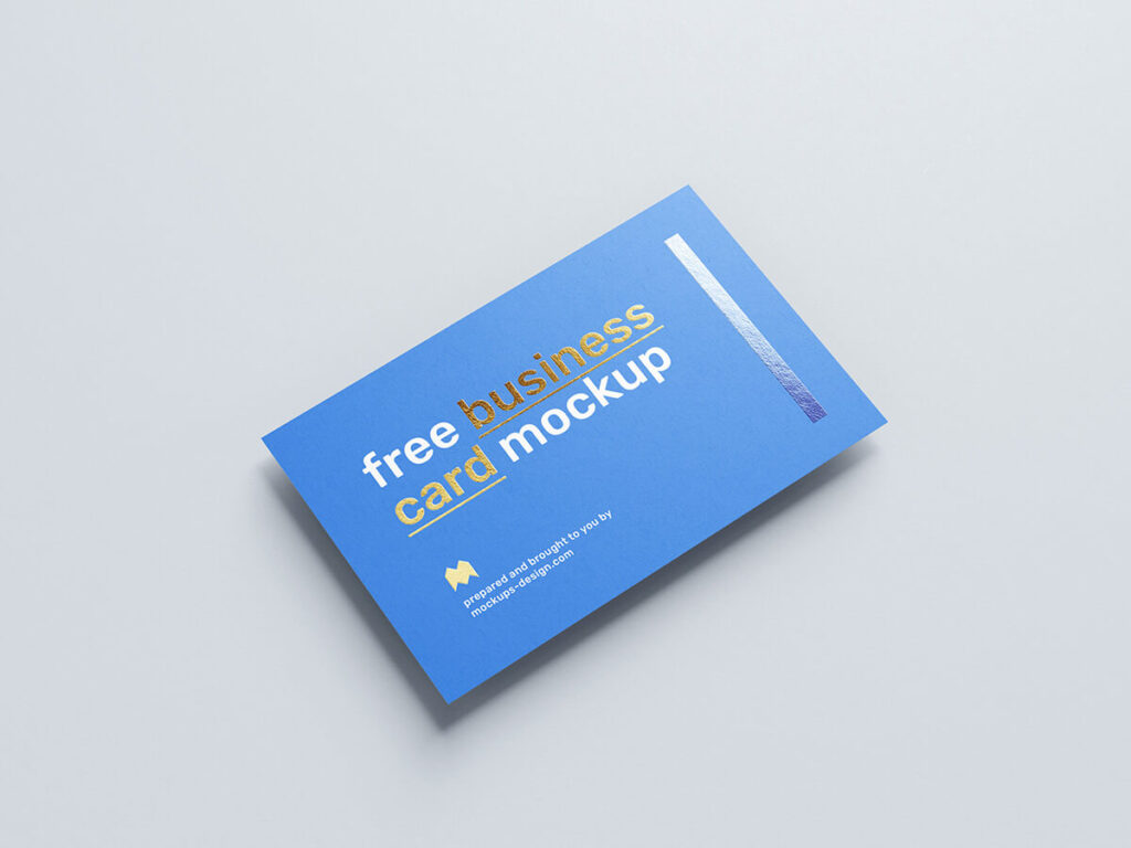 Free Realistic Foil Business Card Mockup PSD Template1