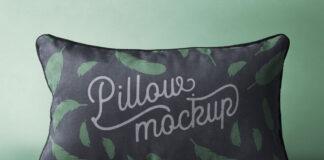 Free Rectangular Pillow Mockup PSD Template