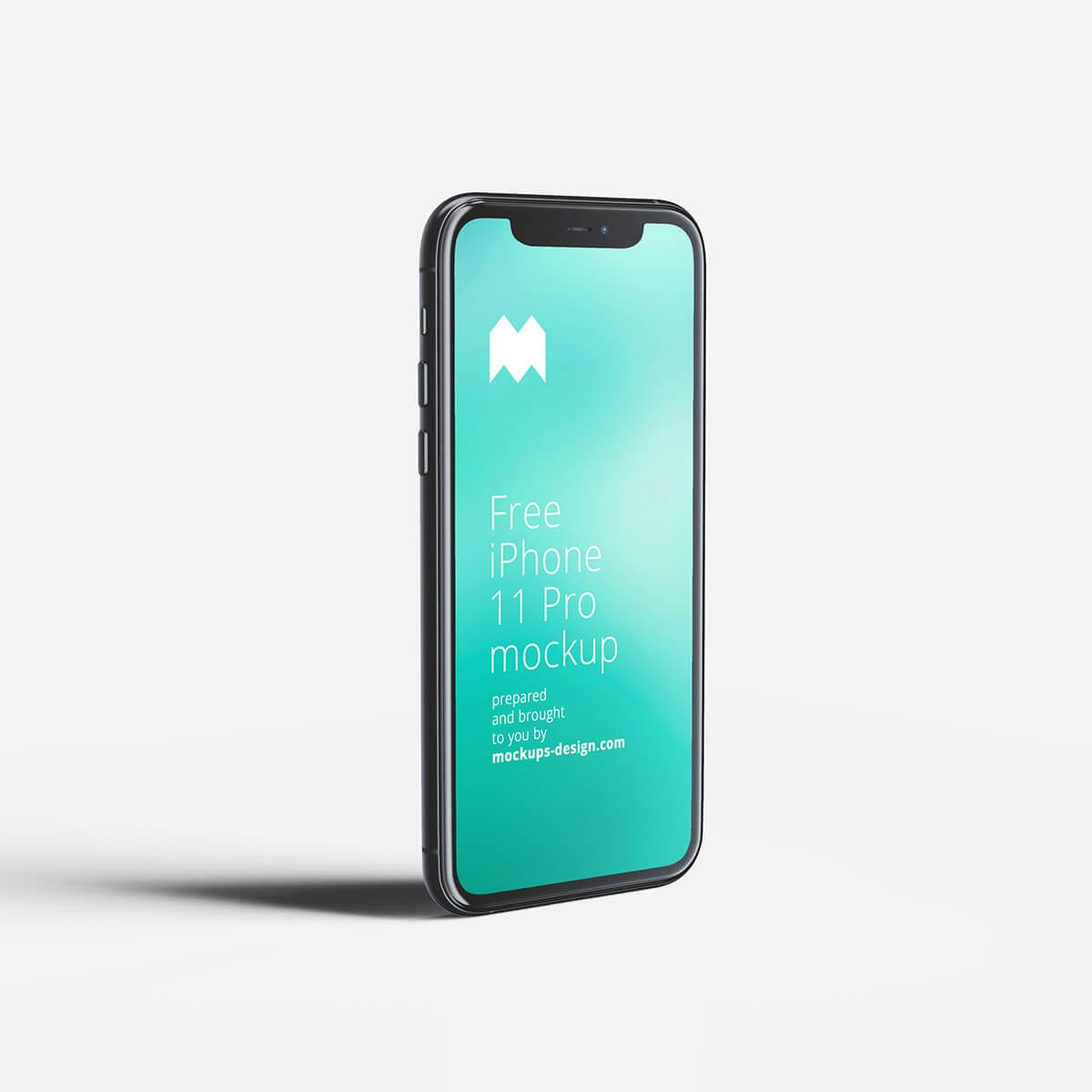 Free Revolutionary iPhone 11 Pro Mockup PSD Template
