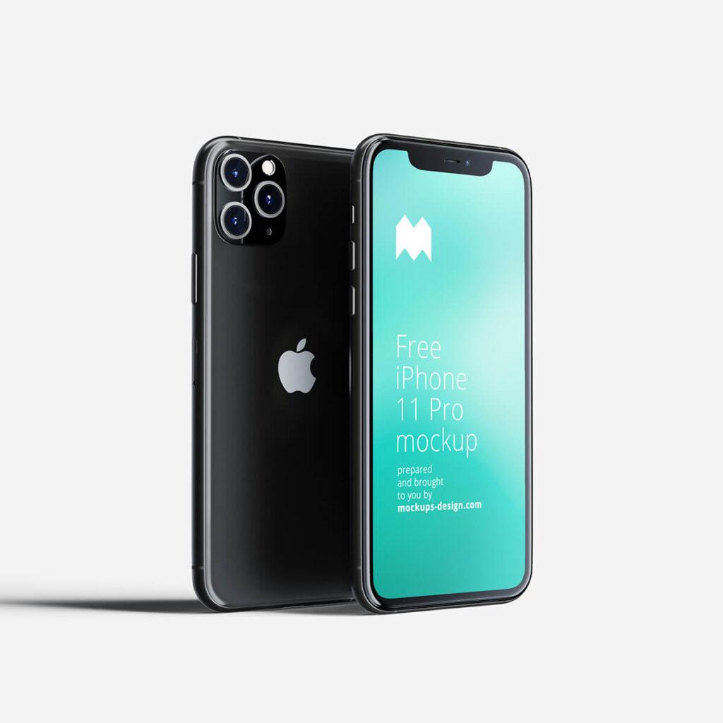 Free Revolutionary iPhone 11 Pro Mockup PSD Template1