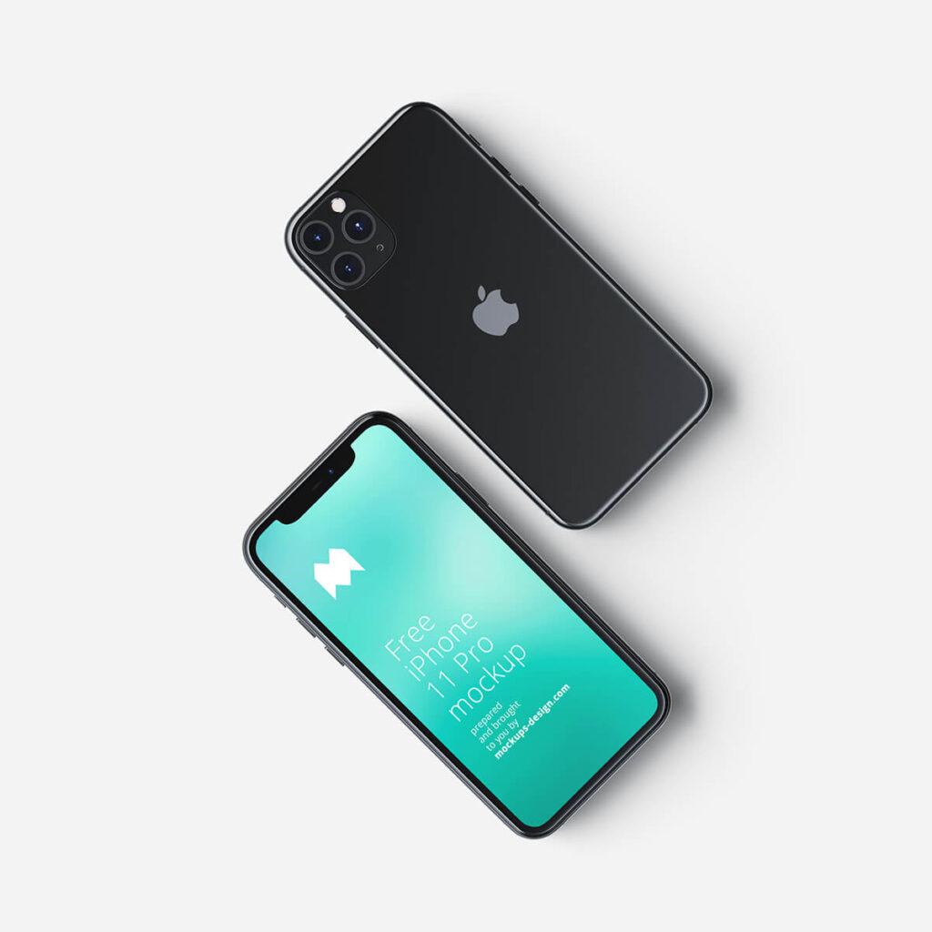 Free Revolutionary iPhone 11 Pro Mockup PSD Template4