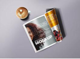 Free Semiannual Magazine Mockup PSD Template