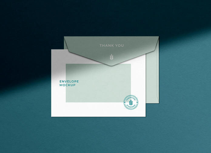 Free Shadow Overlaid Envelope Mockup Vol-02 PSD Template