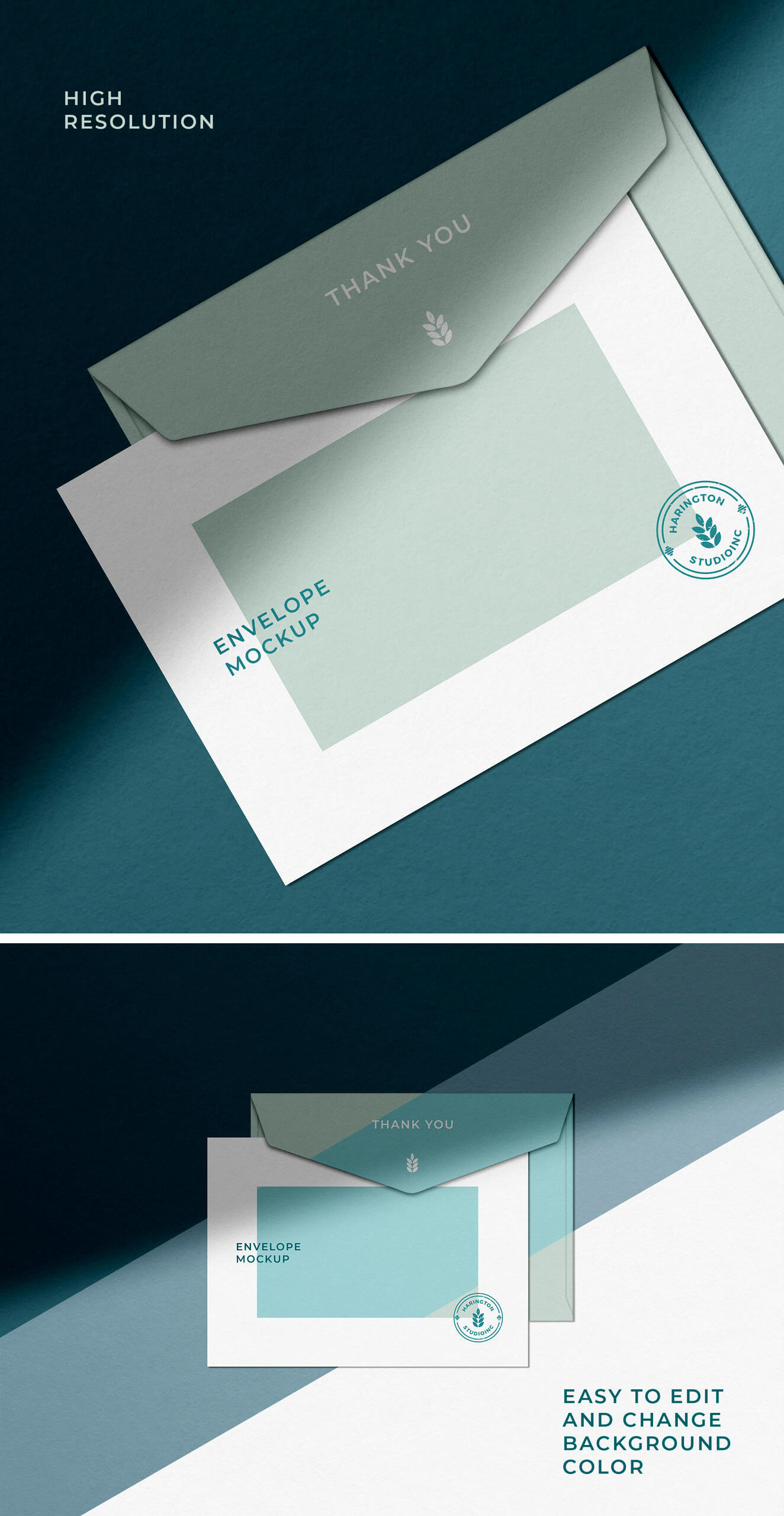 Free Shadow Overlaid Envelope Mockup Vol-02 PSD Template1