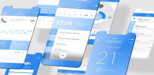 Free Socialist Latest iOS App Mockups PSD Template
