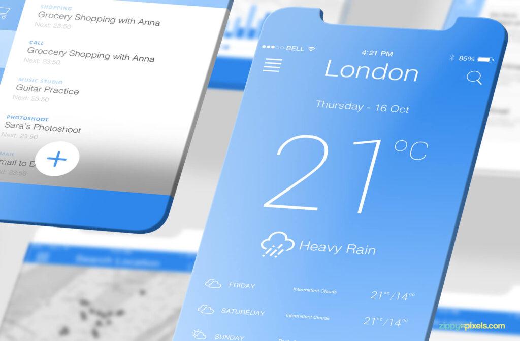 Free Socialist Latest iOS App Mockups PSD Template5