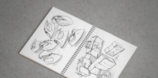 Free Spiral Sketchbook Mockup PSD Template