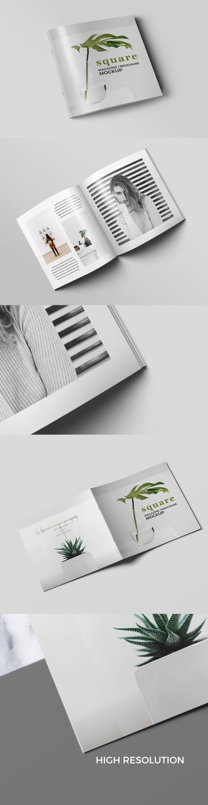 Free Square Magazine Brochure Mockup PSD Template1