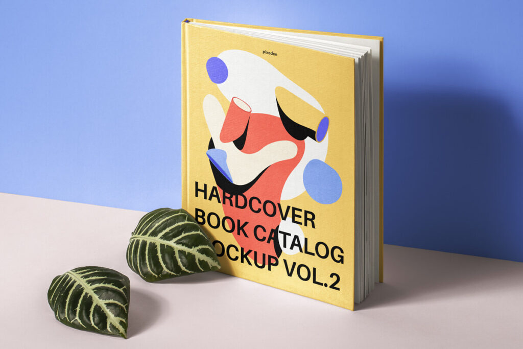 Free Striking Hardcover Book Catalog Mockup PSD Template