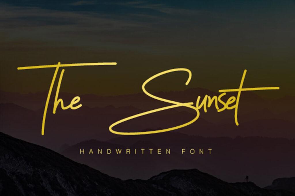 Free Stunning Sunset Signature Font Demo (1)