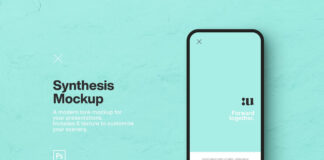 Free Synthesis Smartphone Mockup PSD Template