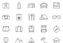 Free Tedious 20 Travel Vector Icons