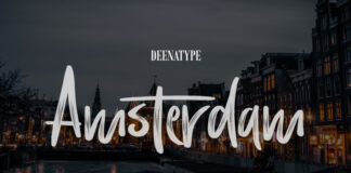 Free Textured Amsterdam Brush Font Demo1