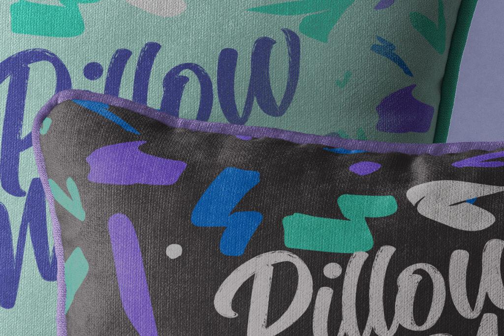 Free Throw Pillow Mockup Set PSD Template2