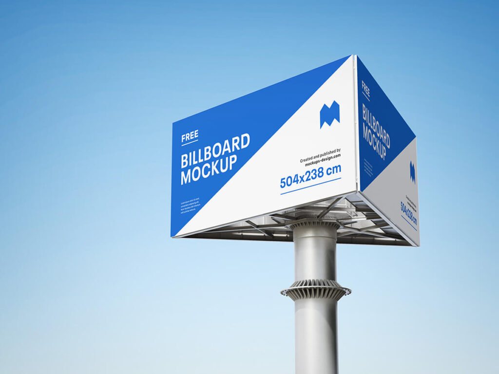 Free Triple Billboard Mockup PSD Template