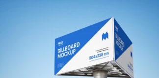 Free Triple Billboard Mockup PSD Template