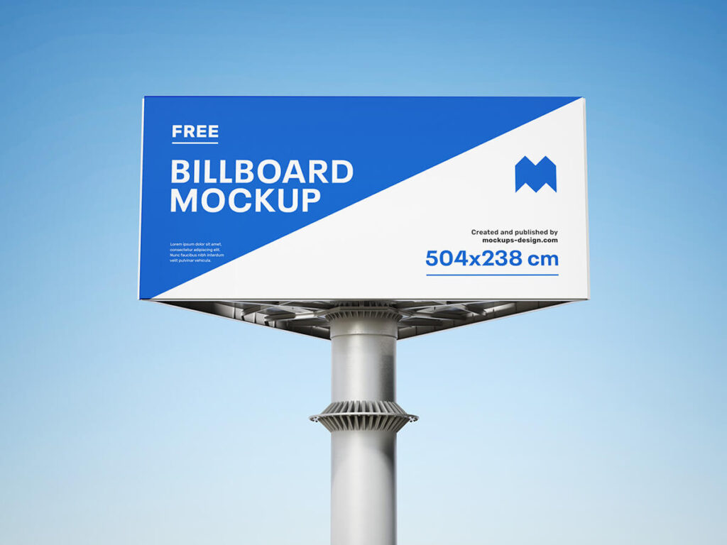 Free Triple Billboard Mockup PSD Template1