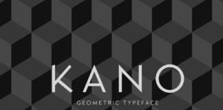 Free Typographic Kano Font