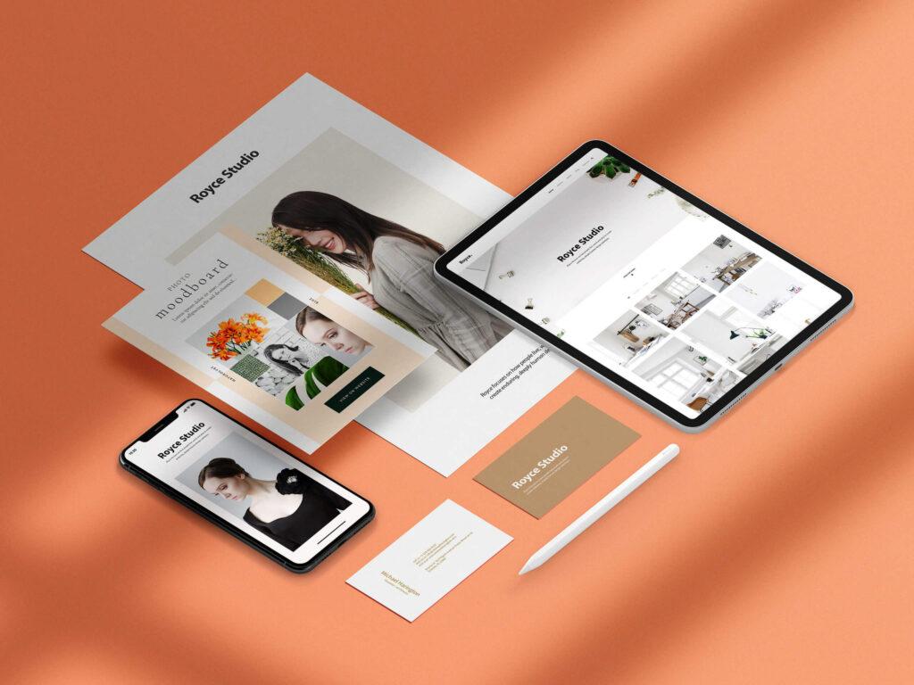 Free Unique Branding Mockup PSD Template