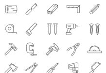 Free Useful Woodworking Tools Vector (1)