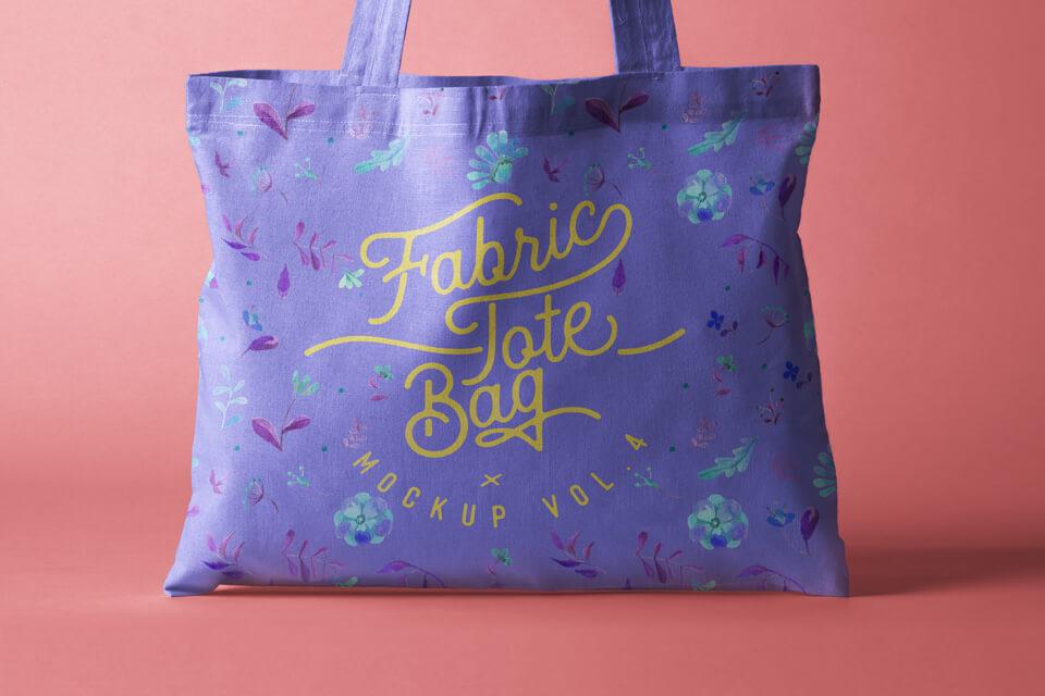 Free Vast Tote Bag Fabric Mockup PSD Template1