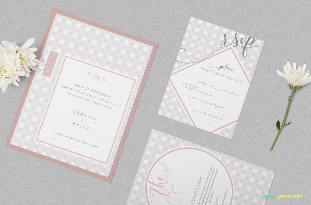 Free Wedding Invitation Mockup PSD Template