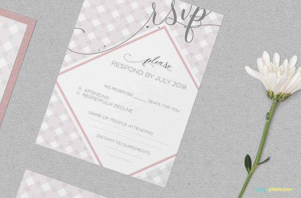 Free Wedding Invitation Mockup PSD Template3
