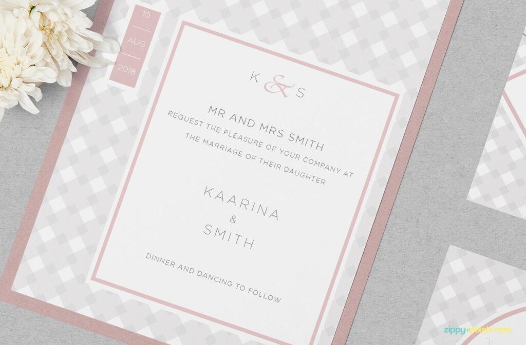 Free Wedding Invitation Mockup PSD Template4