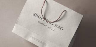 Free White Shopping Bag Mockup PSD Template