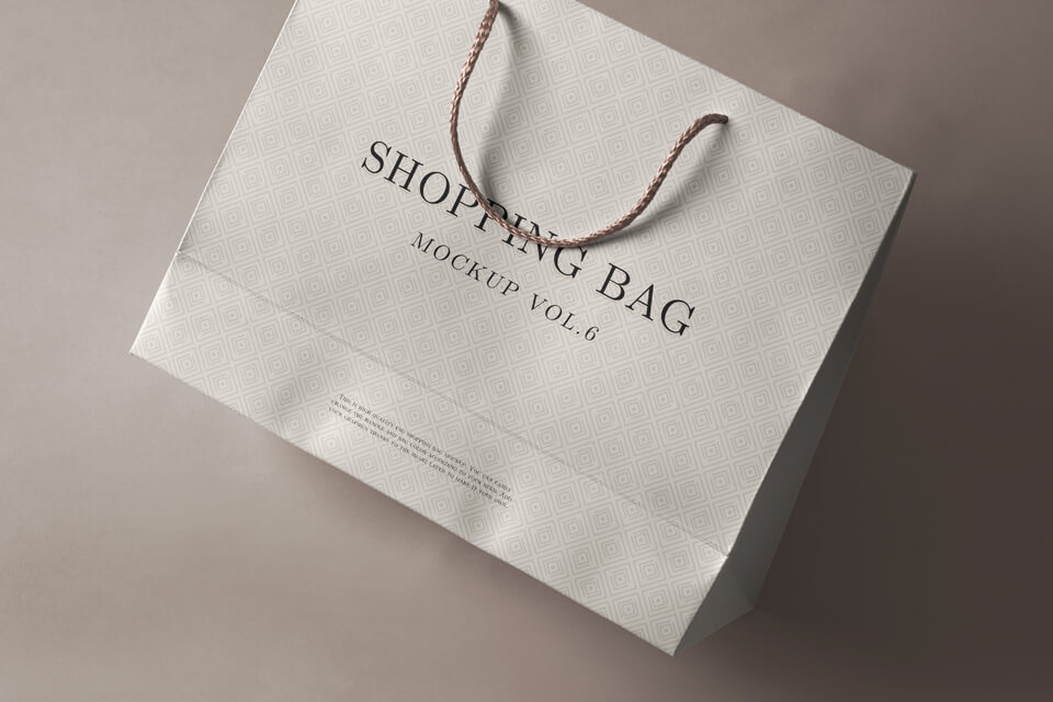 Free White Shopping Bag Mockup PSD Template