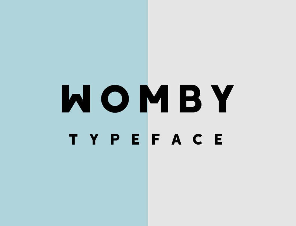 Free Womby Sans Serif Font