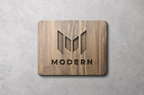 Free Wooden Sign Mockup Scenes PSD Template2