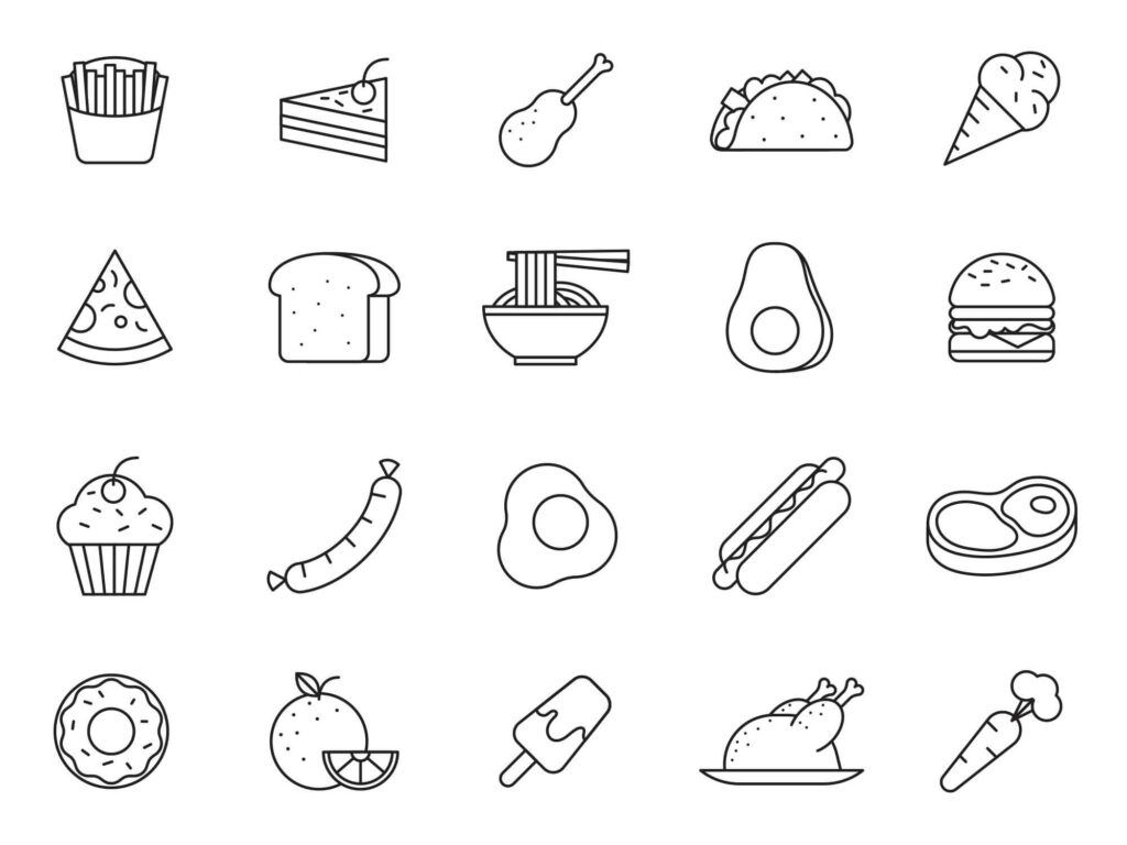 Free Yummy 20+ Food Vector Icons