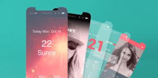 Free iOS App Presentation Mockups PSD Templates