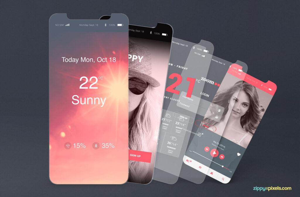Free iOS App Presentation Mockups PSD Templates2