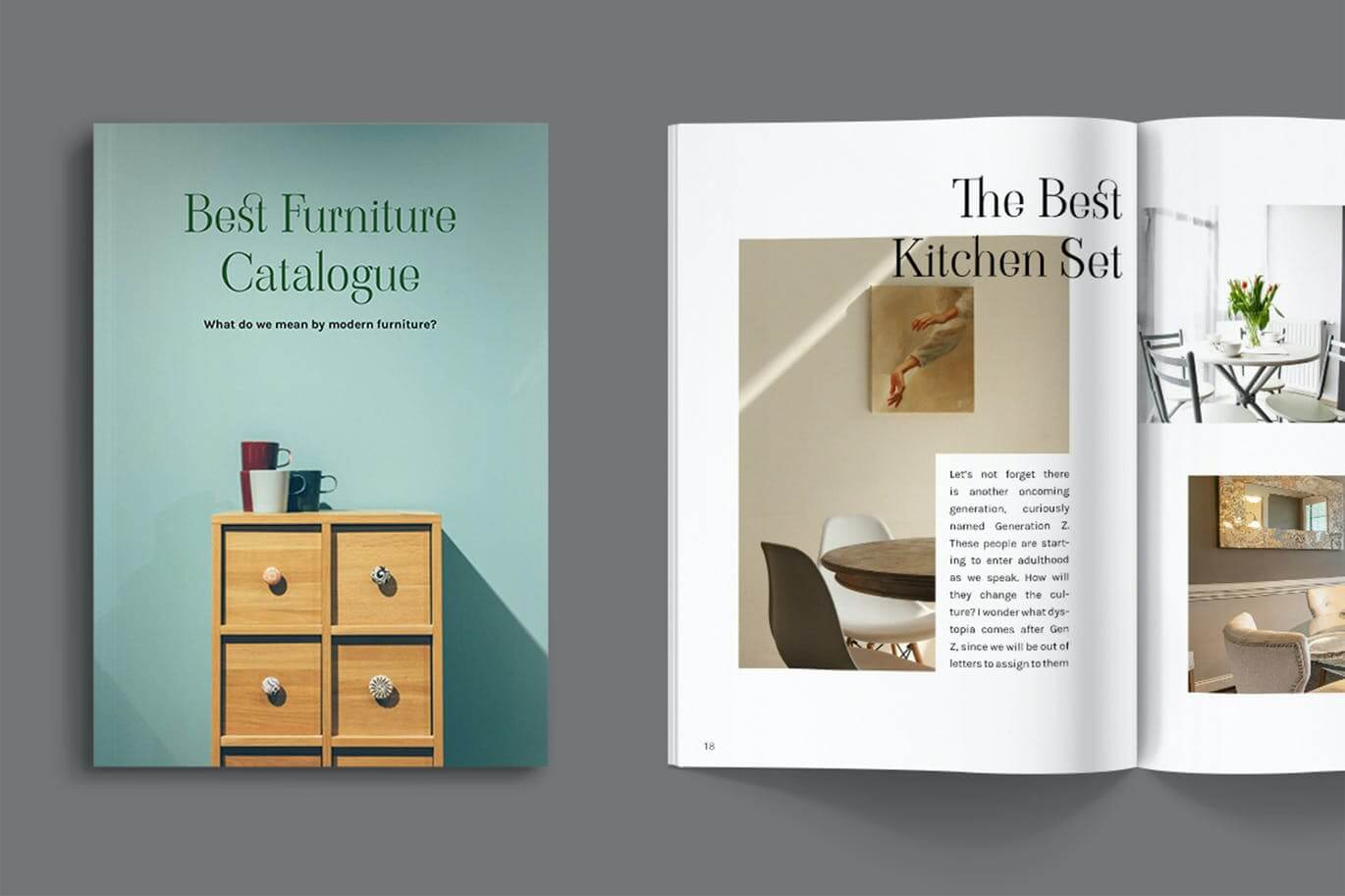 Furniture Catalogue Magazine Template