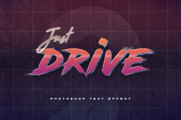 Games 80's retro text effect Premium Psd