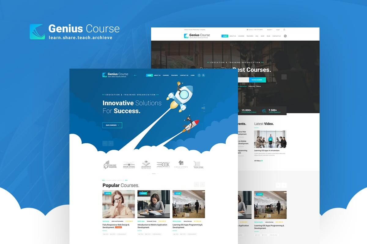 Genius - Learning & Course PSD Template (1)