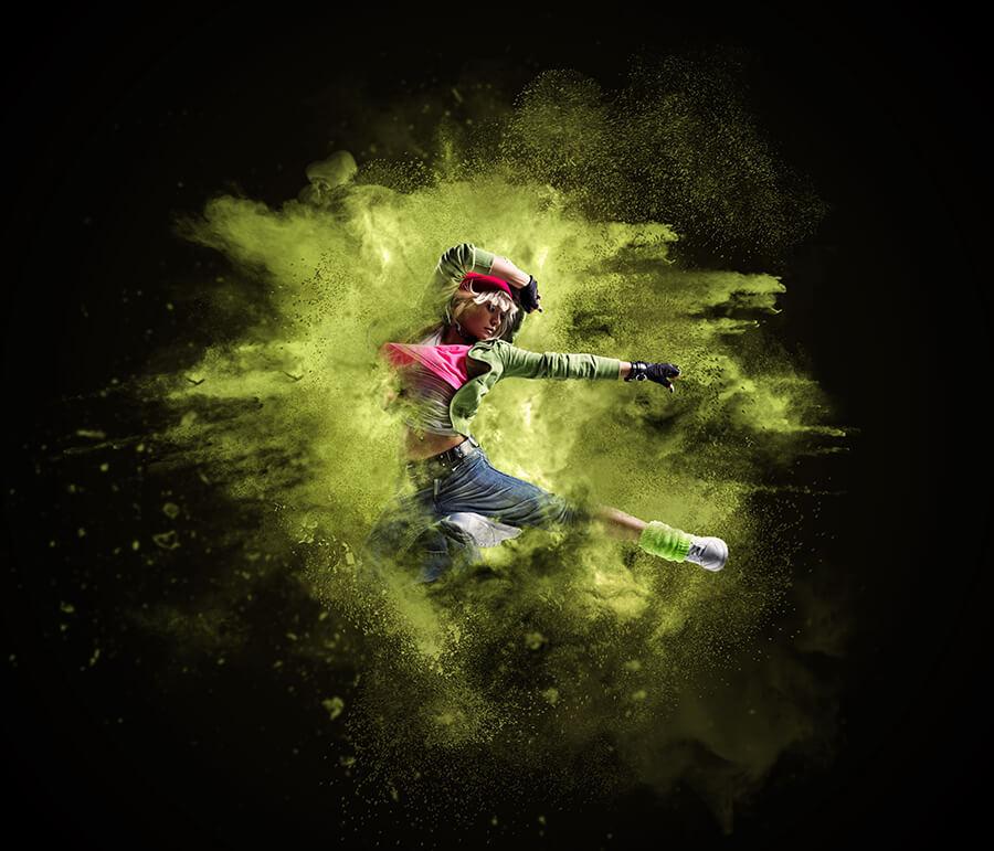 Gif Animated Sand Dust Powder Explosion Photoshop Action