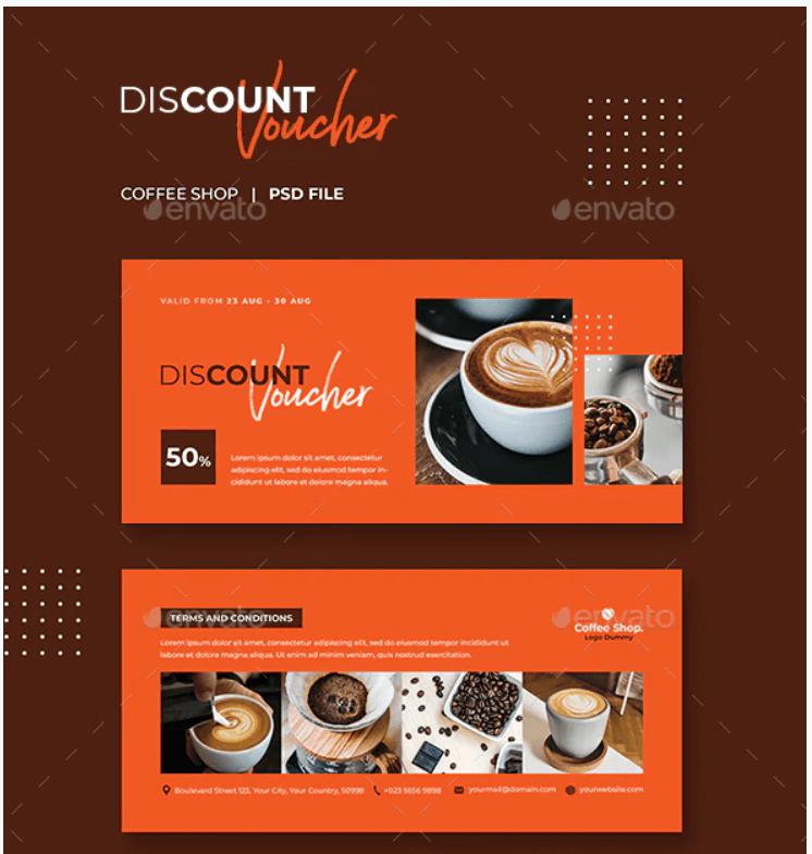 Gift Voucher Coffee Template